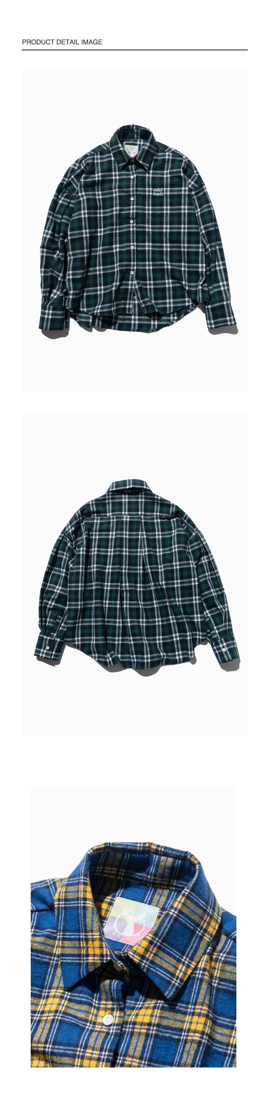 샐러드볼(SALAD BOWLS) 18 플리츠 셔츠 [그린]